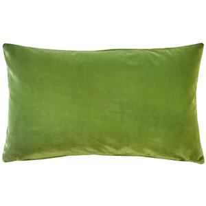 Castello Summer Green 12x20 Inch Rectangular Velvet Throw Pillow