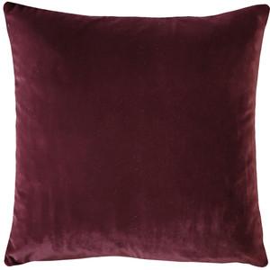 Castello Wine Velvet 20 Inch Square Throw Pillow Fabric