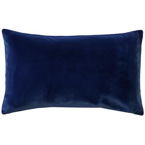 Castello Royal Blue 12x20 Inch Rectangular Velvet Throw Pillow