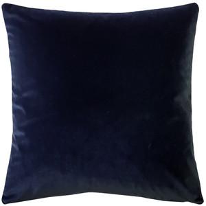 Castello Midnight Blue Velvet 20 Inch Square Throw Pillow