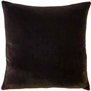 Castello Espresso Brown Velvet 17 Inch Square Throw Pillow