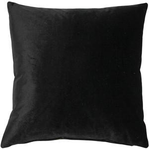 Castello Black Velvet 17 Inch Square Throw Pillow