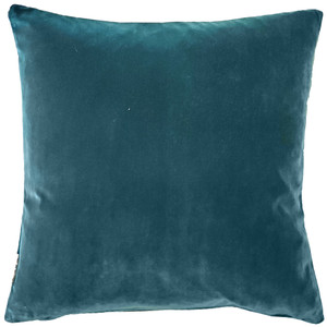 Castello Teal Blue Velvet 17 Inch Square Throw Pillow