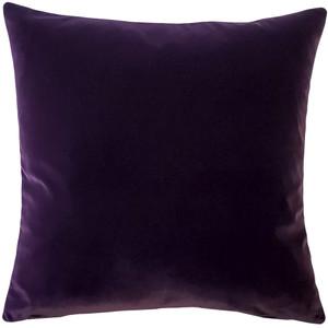 Castello Purple Velvet 17 Inch Square Throw Pillow