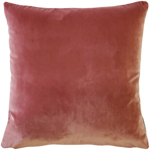 Castello Rose Blush Velvet 17 Inch Square Throw Pillow