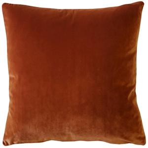 Castello Cinnamon Velvet 17 Inch Square Throw Pillow Fabric