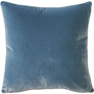Castello Provincial Blue Velvet 17 Inch Square Throw Pillow