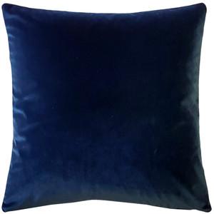 Castello Royal Blue Velvet 17 Inch Square Throw Pillow