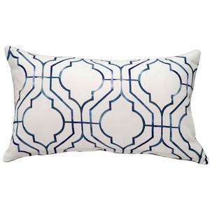 Biltmore Gate Blue Rectangular Throw Pillow
