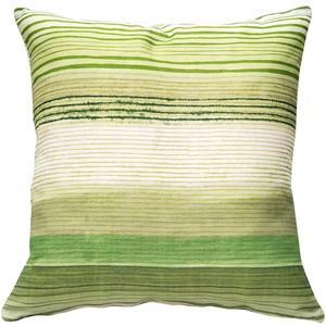 Sedona Stripes Green 17 Inch Square Throw Pillow