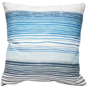 Sedona Stripes Blue 20 Inch Square Throw Pillow - Pillow Decor