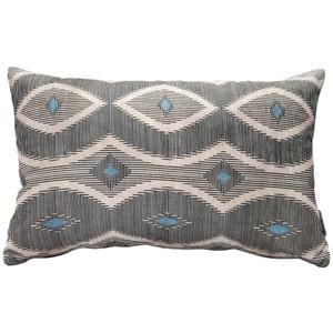 Desmond Blue Diamond Rectangular Pillow - PIllow Decor