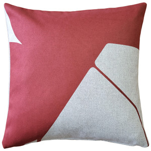 Boketto Spanish Red 19 Inch Square Throw Pillow Fabric from Pillow Decor