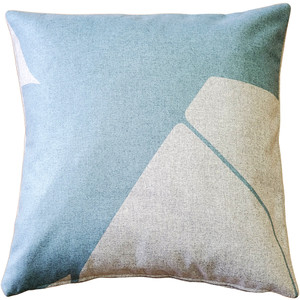 Boketto Paradiso Blue 19 Inch Square Throw Pillow from Pillow Decor