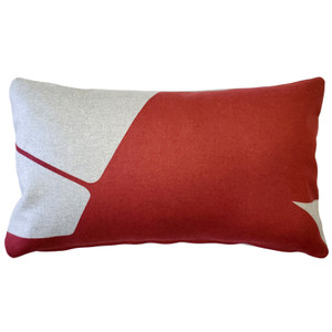 Boketto Spanish Red 12x19 Inch Rectangular Throw Pillow from Pillow Decor
