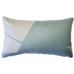 Boketto Paradiso Blue 12x19 Inch Rectangular Throw Pillow from Pillow Decor