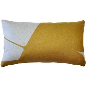 Boketto Renaissance Gold 12x19 Inch Rectangular Throw Pillow from Pillow Decor