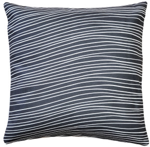 Meraki Charcoal Black 19 Inch Square Throw Pillow from PIllow Decor
