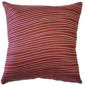 Meraki Spanish Red 19 Inch Square Throw Pillow from PIllow Decor