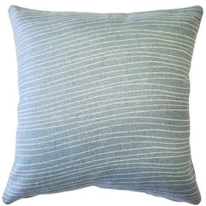 Meraki Paradiso Blue 19 Inch Square Throw Pillow from PIllow Decor