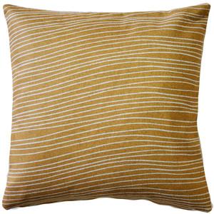Meraki Renaissance Gold 19 Inch Square Throw Pillow from PIllow Decor