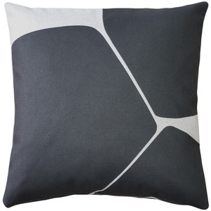 Aurora Charcoal Black 19 Inch Square Throw Pillow from Pillow Decor