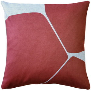 Aurora Spanish Red 19 Inch Square Throw Pillow from Pillow Decor