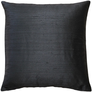Sankara Black Silk Throw Pillow 18x18