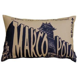 Marco Polo Theatre Restaurant 12x20 Taupe Throw Pillow