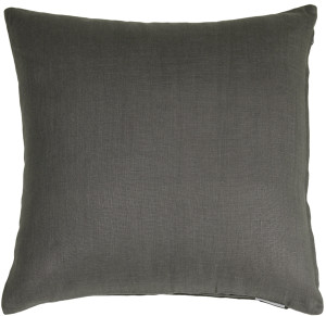 Tuscany Linen Charcoal Gray 17x17 Throw Pillow