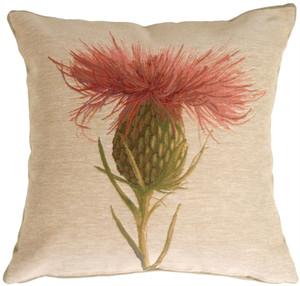 Thistle Flower Decorative Pillow