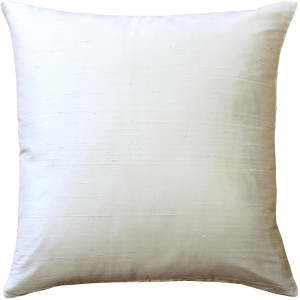 Sankara Ivory Silk Throw Pillow 16x16