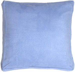 24x24 Box Edge Royal Suede Pale Blue Floor Pillow