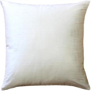Sankara Ivory Silk Throw Pillow 20x20