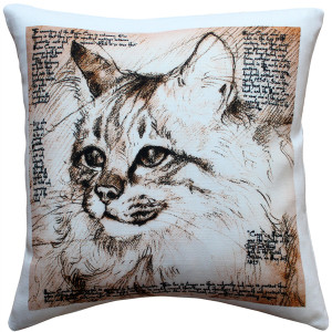 Maine Coon 17x17 Cat Pillow