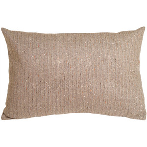 Herringbone Brown Rectangular Decorative Toss Pillow