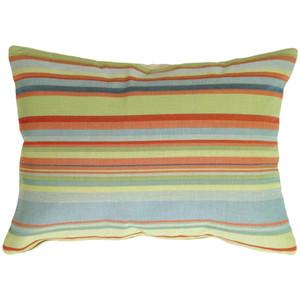 Tropical Stripes Rectangle Decorative Pillow