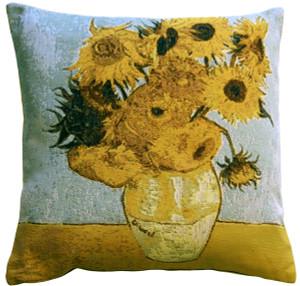 Van Gogh Sunflowers 19x19 Throw Pillow