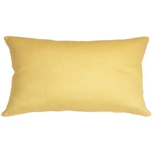 Tuscany Linen Banana Yellow 12x19 Throw Pillow