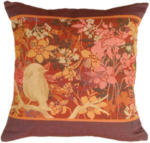 Chickadee Garden Bird Decorative Pillow