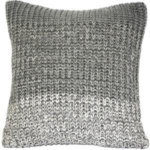 Hygge Gray Stripe Knit Pillow
