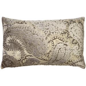 Rochelle Owl Paisley Velvet Pillow 12x20