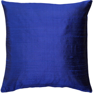 Sankara Ink Blue Silk Throw Pillow 18x18