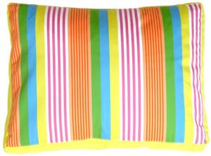 Electric Lemon Stripes Decorative Pillow