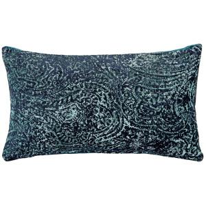 Visconti Teal Blue Chenille Throw Pillow 12x20
