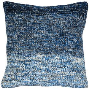 Hygge Storm Blue Knit Pillow