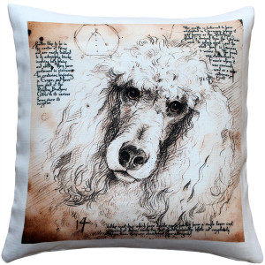Poodle 17x17 Dog Pillow
