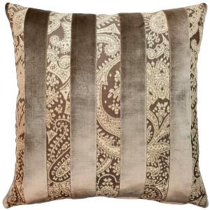 Robert Owl Stripe Velvet Pillow 22x22