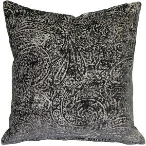 Visconti Gray Chenille Throw Pillow 21x21
