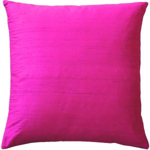 Sankara Fuchsia Pink Silk Throw Pillow 16x16
